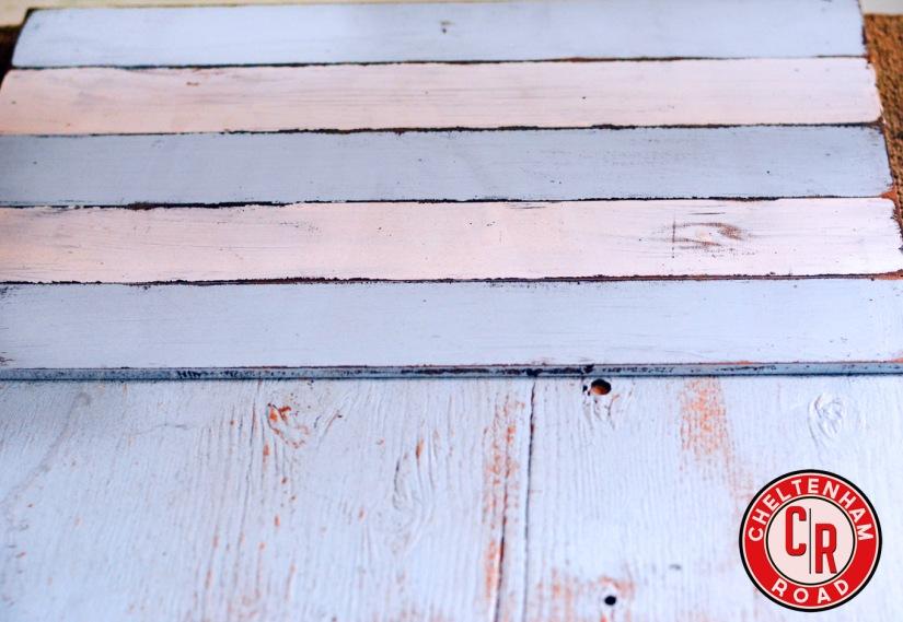 distressed wood technique