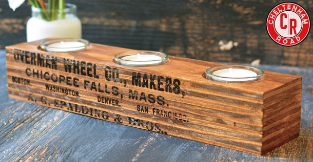 Industrial Wood Tea Light Holder by Cheltenham Road
