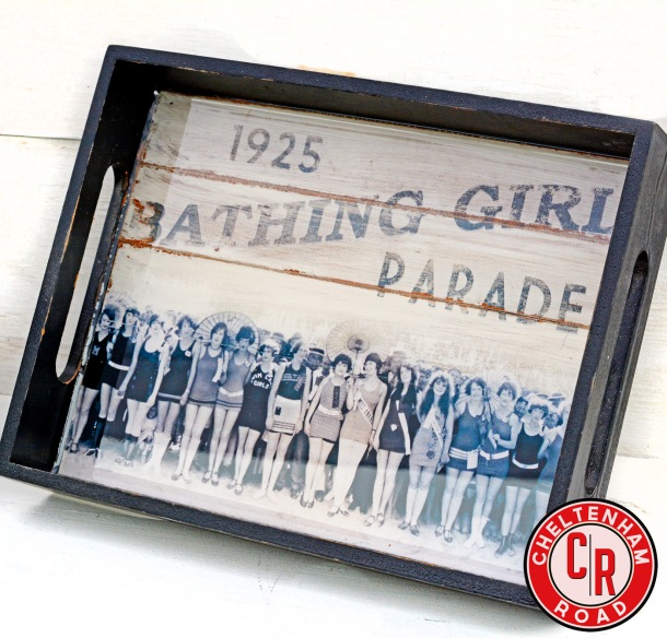 Vintage Bathing Beauty Tray by Cheltenham Road