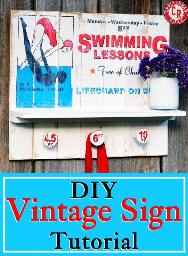 DIY Vintage Sign by Cheltenham Road