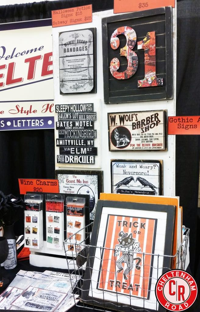 Handmade Original Design Halloween Signs by Cheltenham Road