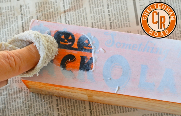 Image Transfer Halloween Candle Tutorial
