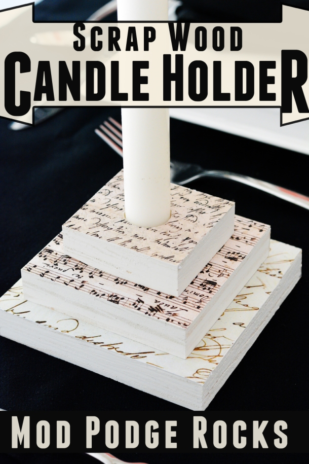 Simple DIY Candle Holder Tutorial