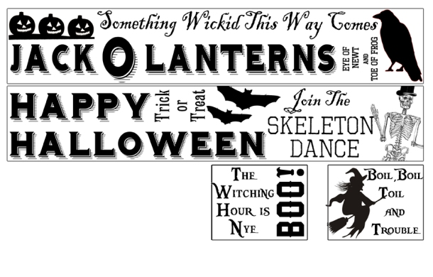 Vintage Halloween Design Print Sheet by Cheltenham Road