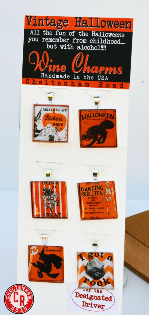 Vintage Halloween Wine Charm Set by Cheltenham Road