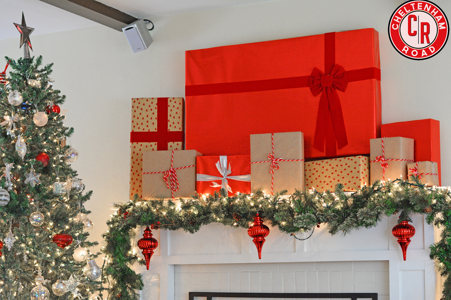 Holiday Mantle Tv Cover Up