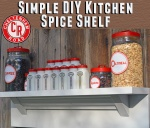 Kitchen Spice Shelf Tutorial