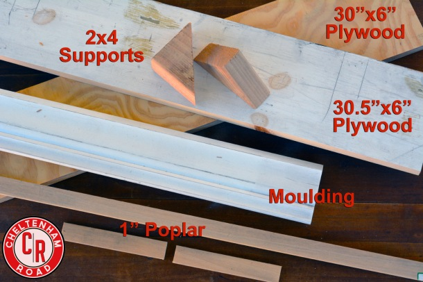 supplies-for-diy-shelf