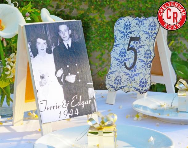 DIY Wedding Reception Table Numbers Tutorial