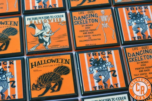 Vintage Halloween Drink Coaster Set by Cheltenham Road