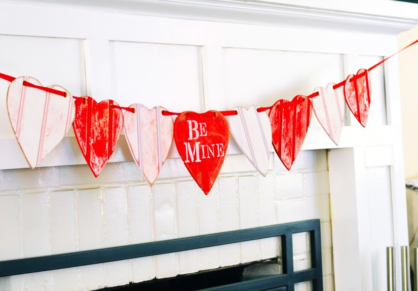 Vintage Valentines Day Banner