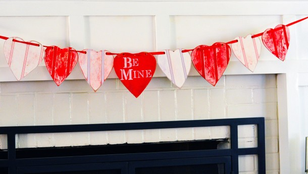 Scrap Wood Valentines Day Banner