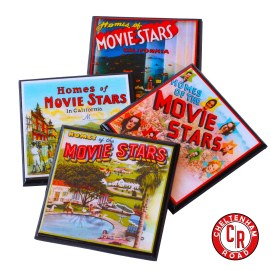 Homes of the Stars Vintage Hollywood Drink Coaster Set