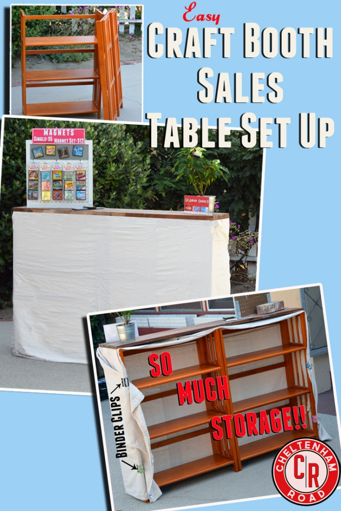Craft Show Sales Table Set Up ideas. Versatile, portable and with plenty of storage space.