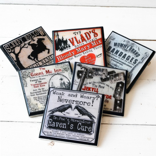 Gothic Halloween Set of Six
