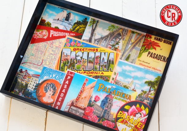Pasadena California collage tray