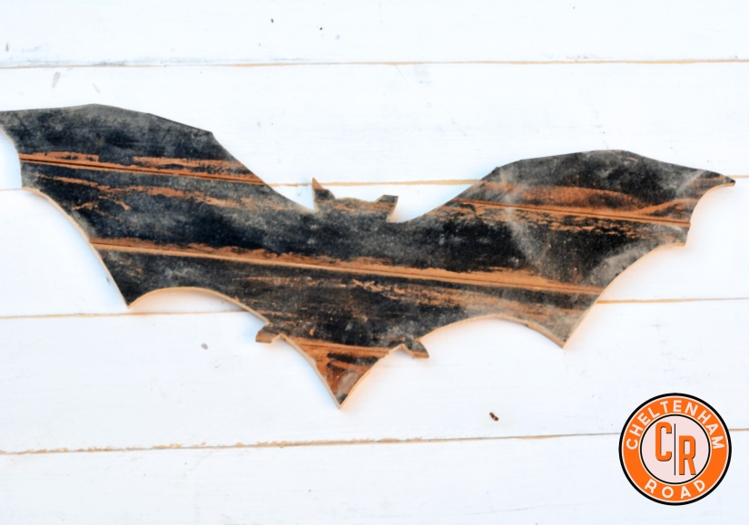 Reclaimed Wood Halloween Bat
